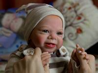 NPK Most popular limited edition cheap reborn doll kit authentic original sassy kit 22inches reborn supply hot sell