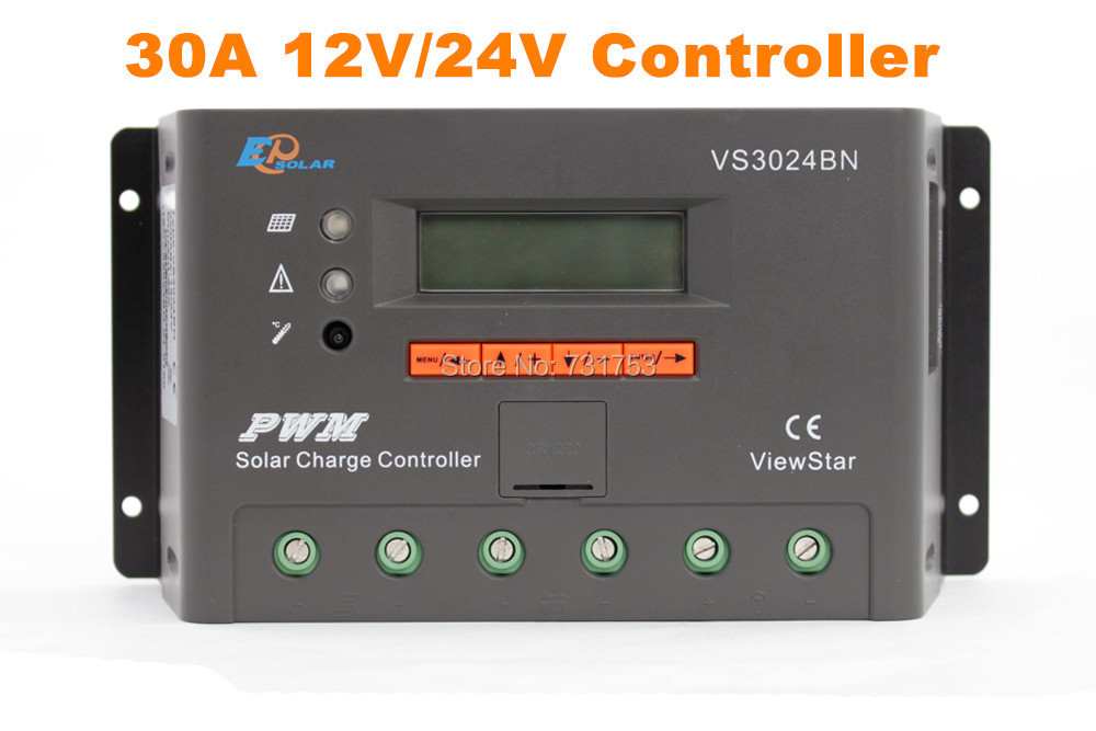 MAYLAR@ 30A 12V 24V Auto PWM Solar Charge Controller LCD Display Connect Solar Panels