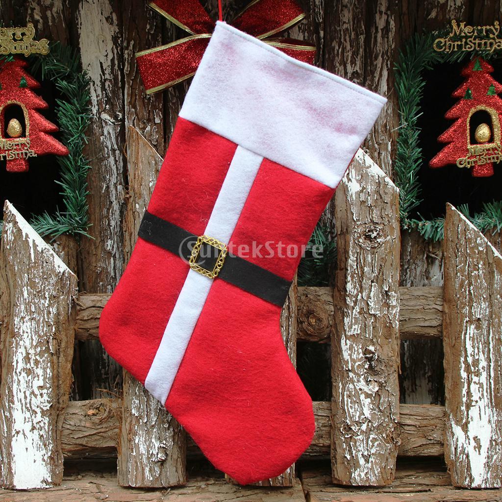 Christmas Stocking Xmas Tree Hangers Decorations Hanging Gift Sock 41cm Long ...