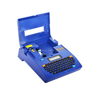 L MARK Cable id Printer +Can Connect PC Electronic Lettering Machine PVC Tube Printer Wire Marking Machine in Blue Color LK 320P