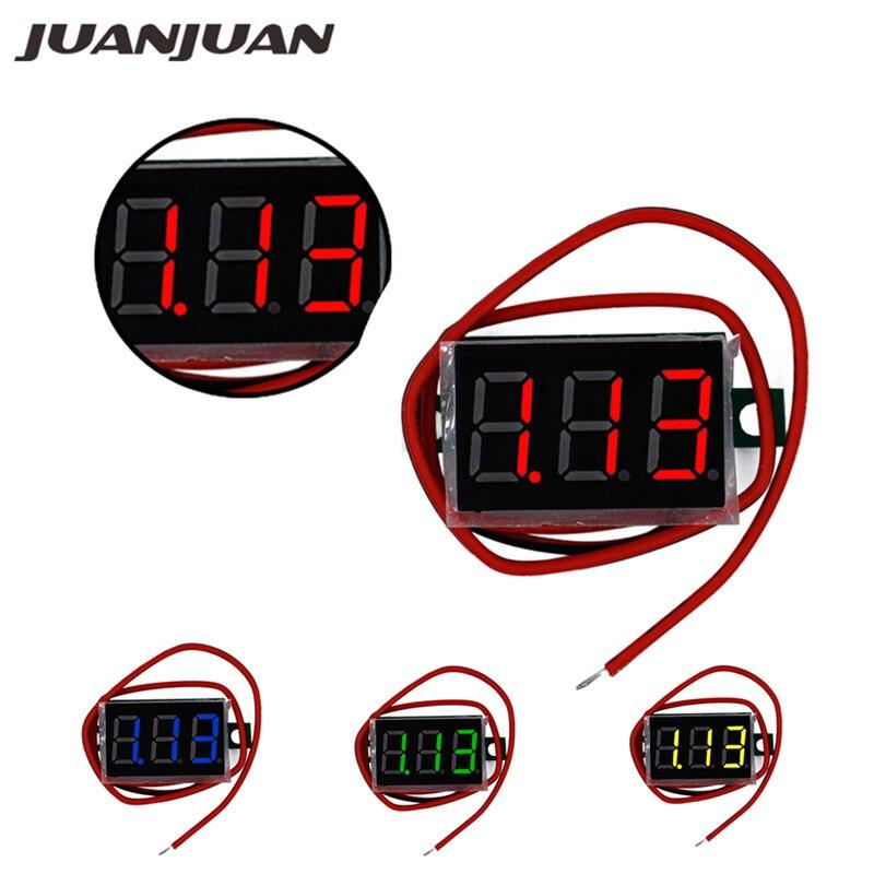 Mini 0.36 Inch  DC 4.5V-30.0V 3 Bits Two Wire Voltmeter  Red  LCD Display Digital Volt  Gauge Voltage Meter  Voltmeter 25% Off