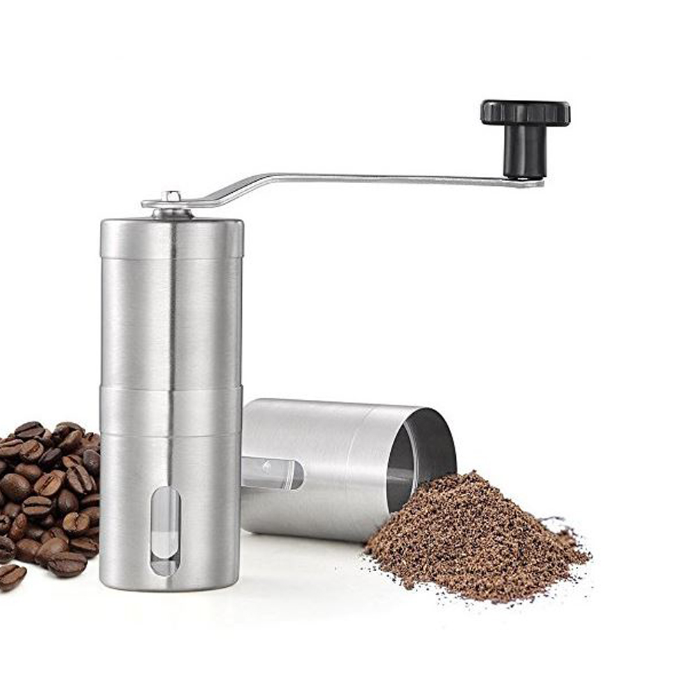 Manual Coffee Grinder Stainless Steel Coffee Grinders Coffee Mill Machine Portable Hand Burr Grinders Manual Tool