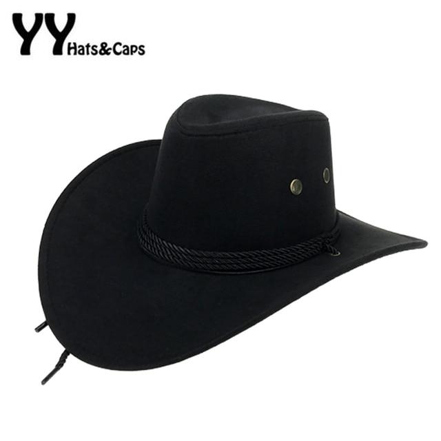 Oeste americano vaquero para hombre sombreros de ala ancha de sol ... f1779f9bd5e