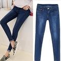 2017 Мода Дамы рваные джинсы женщина старинные джинсовые брюки досуг джинсы брюки для женщин свободные голубые женские джинсы брюки 975 #