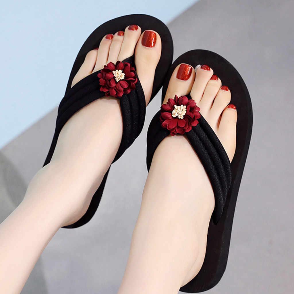 YOUYEDIAN נשים של קיץ בוהמי קליפ הבוהן כפכפים החלקה טריזים כפכפים חוף נעלי zapatos de mujer קון tacon פיאסטה # g35