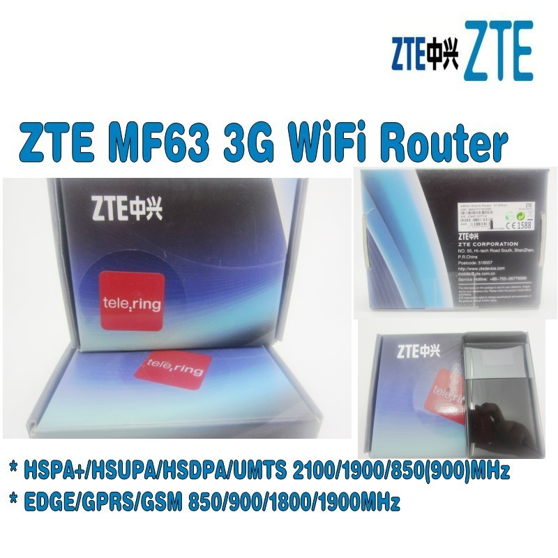 Unlocked ZTE MF63 3g wireless router hspa mobile hotspot plus with antenna