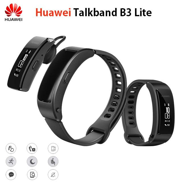 Original Huawei Talkband B3 Lite Smart Wristband Bluetooth headset Answer End Call Run Walk Sleep Auto