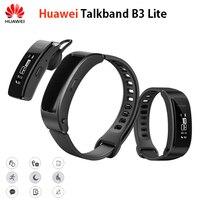 המקורי Huawei Talkband B3 לייט חכם צמיד אוזניית Bluetooth תשובה/סיום שיחה מעורר שינה אוטומטי מסלול Run Walk הודעה