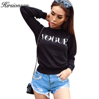 Hirsionsan New Autumn Hoodies Sweatshirt Women VOGUE Printed Funny Hoodies Harajuku Long Sleeve Pullovers Ladies Casual