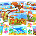 Kids 3d   Wooden  Puzzle Cartoon Toys with Iron Box Children animal   jigsaw  puzzles  toys and  baby  toy  christmas gift  CU21