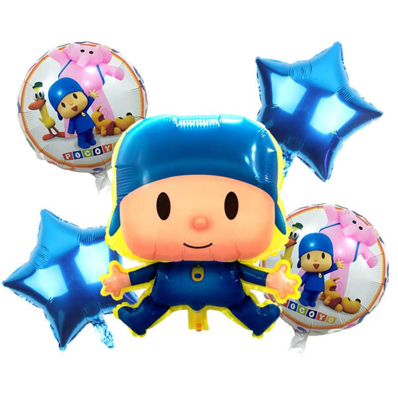 Frete Grátis Número Pocoyo balão da festa de aniversário balões de Ar decorações da festa de Dia das crianças suprimentos aniversário balões Folha