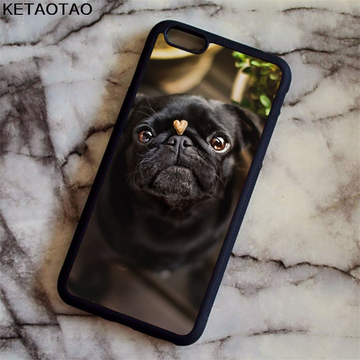 KETAOTAO Cute Funny Pug Dog French Bulldog Puppy Phone Cases for iPhone 4S 5S 6S 7 8 X for Samsung Case Soft TPU Rubber Silicone