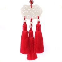 150mm Chinese Rayon Polyester Silk Tassels For Earring Pendant Jewelry Diy Long Fringed Ribbon Knot Satin Tassel Trim
