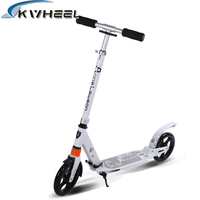 Newest Two wheels aluminum scooters 8 inch PU adult big wheel scooter folding portable ultralight travel