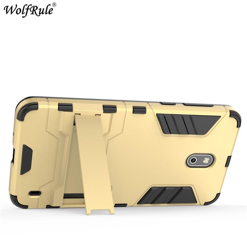 WolfRule For Cover Nokia 2 Case Phone Holder Soft TPU & PC Mobile Phone Case For Nokia 2 Cover For Nokia2 Phone Bag Case 5 [