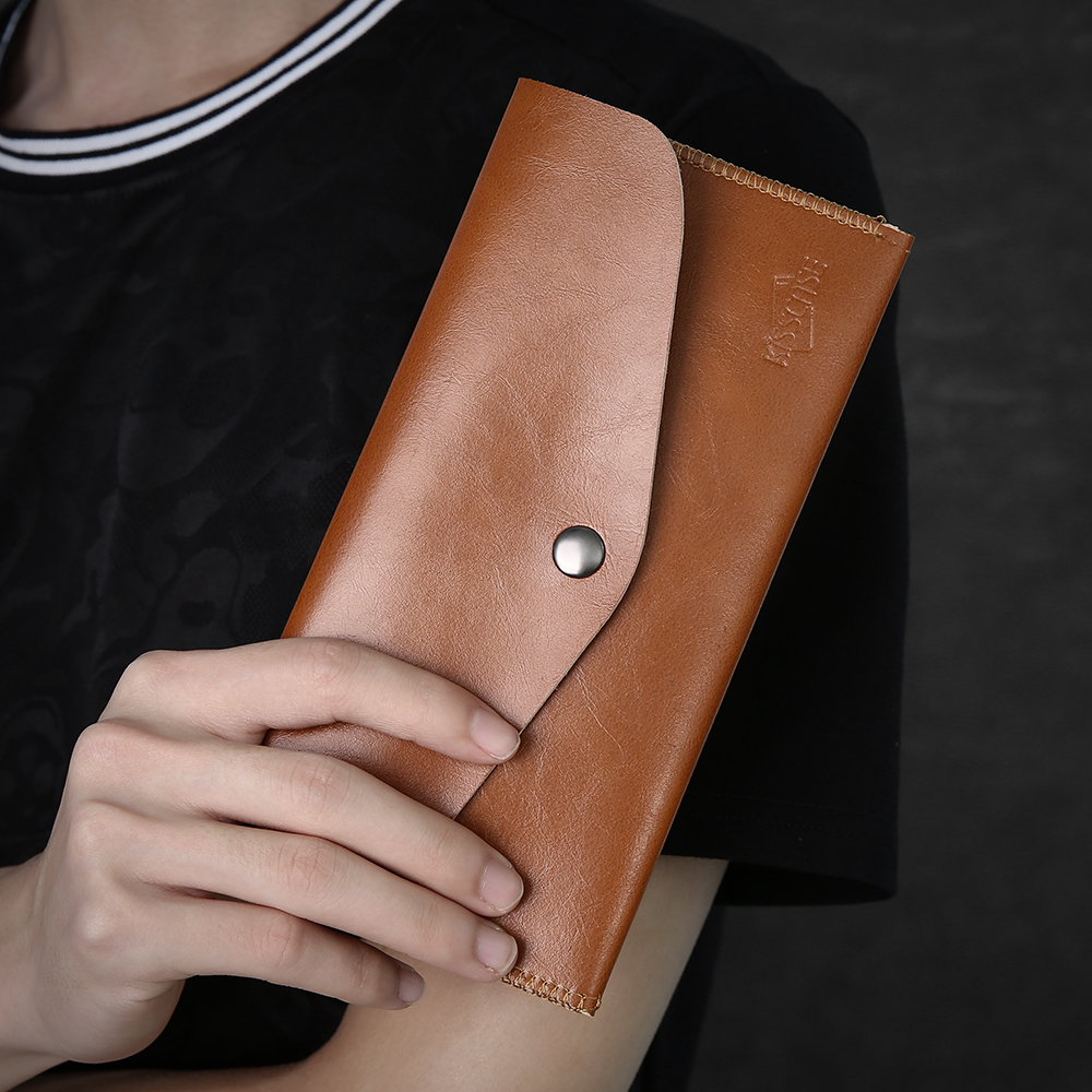 KISSCASE Wallet Case For IPhone 11 Pro XR 7 8 6 6 Phone Bag For Samsung A50 A40 Note 10 Full Body Phone Pouch 5.5 Inch Universal