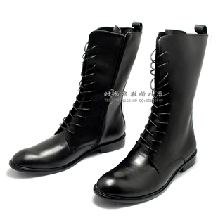 Fashion boots genuine leather soft leather long for men-in Knee