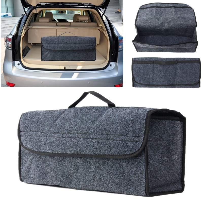Car Durable Soft Felt Storage Box Trunk Bag Anti slip Multi use Tools Organizer Bag Carpet Folding Emergency Box Saving Space in Nets from Automobiles Motorcycles