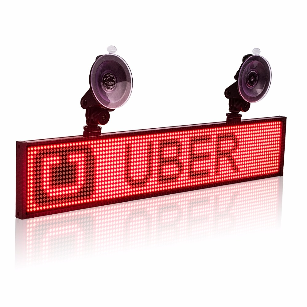 12 v P5 Voiture Uber Lyft Led Signe Multifonction Wifi Programmable Publicité Défilement Message Display Board Support 2-ligne texte