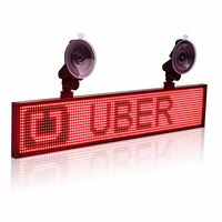 12V P5 Car Uber Lyft Led Sign Multifunction Wifi Programmable Advertisement Scrolling Message Display Board Support 2 line Text