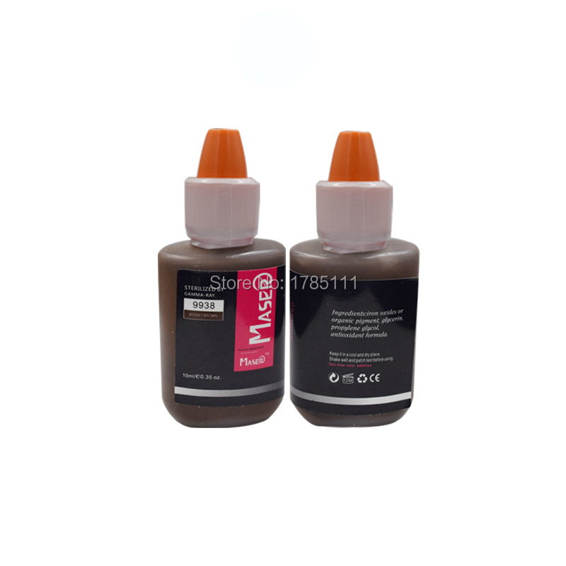 10ML 9938 BRUNET BROWN Plant extract intensity organic non-toxic EYEBROW tattoo micro Pigment permanent makeup PMU ink