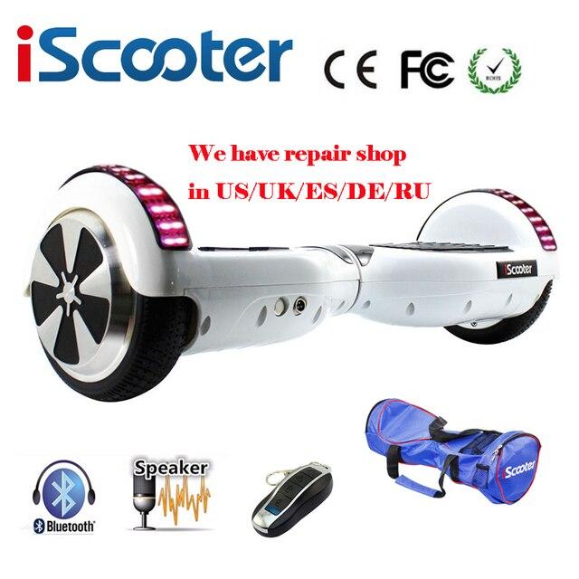 Iscooter Bluetooth ХОВЕРБОРДА часть ul2272 Smart руль самостоятельно баланс Электрический скутер скейтборд сумка Подарок для мальчика