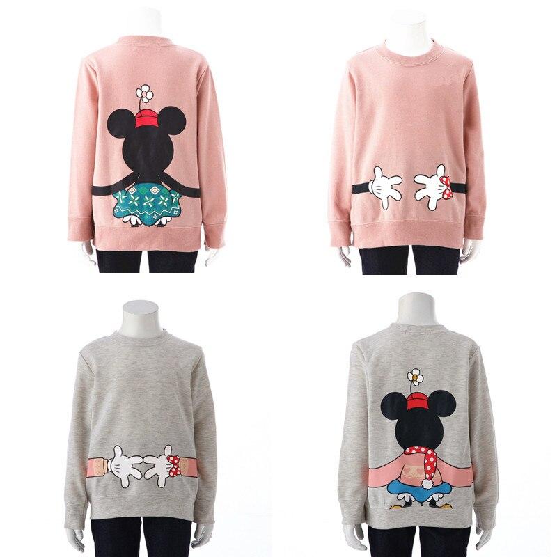 Weihnachten Familie Passenden Kleidung Cartoon Maus Langarm Baumwolle Sweatershirts Mutter Und Tochter Kleidung H0015 Noch Nicht VulgäR Mutter & Kinder