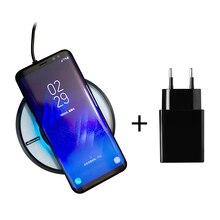 Carregador sem fio nillkin qi almofada de carregamento sem fio com usb carregador de telefone adaptador ac para iphone x/8/8 plus para xiaomi para samsung