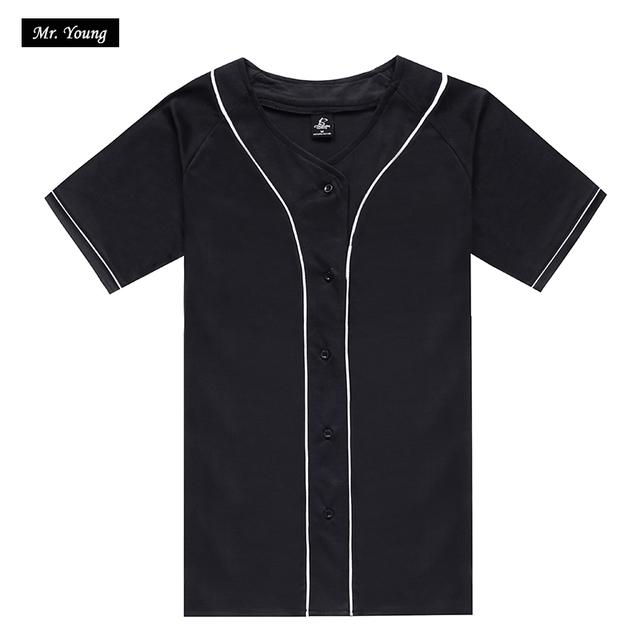 DIY Projeto Do Logotipo Do Basebol camiseta T-shirt dos homens de Manga Curta O-pescoço 2016 Verão Boné de Beisebol Estilo Hip Hop Marca Jersey homens