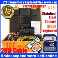 512HZ Transmitter Locator with keyboard recorder 20m Snake UnderWater Sewer Drain Pipe Wall Inspection camera
