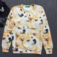 Autumn Funny Doge Akita Shiba dogs Husky Printed Women Men Lovers Sweatshirt Couples Hoodie Cute Kawaii Man Lady Punk Tracksuit
