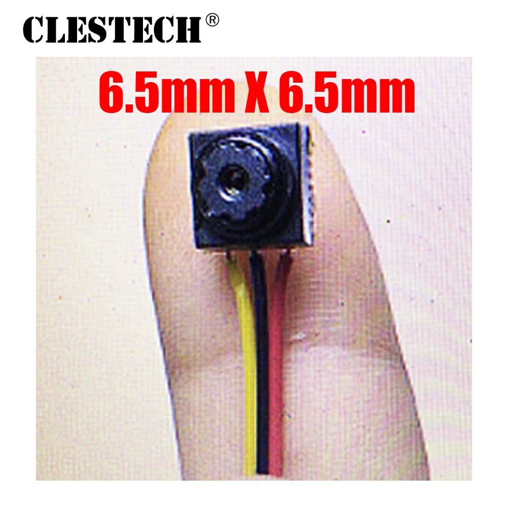 Mínimo 6.5 milímetros * Tamanho 6.5 m CMOS Menor câmera HD Mini Câmera de CFTV 800TVL pequeno 12*12 Super micro muito mini segurança Vigilância vidicon