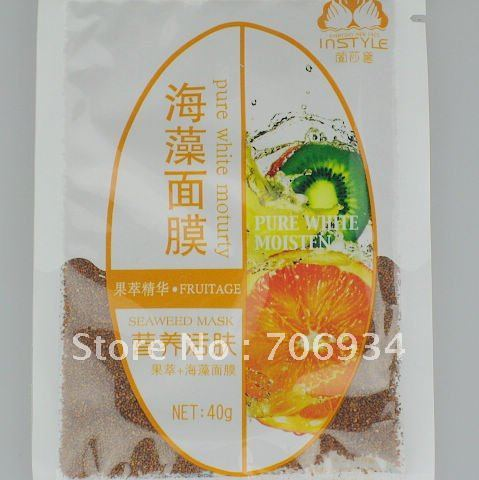 Seaweed Mask Containing Fruit Extracts Of Natural Plant Collagen Repair 40g / bag 10 bags / pack
