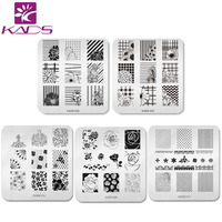 KADS 5pcs/set Beautiful Flower Design Nail Art Stamp Template Stamping Plates Gorgeous Lace Image Manicure Stencil DIY Tool