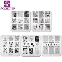 KADS 5pcs/set Beautiful Flower Design Nail Art Stamp Template Stamping Plates Gorgeous Lace Image Manicure Stencil DIY Tool