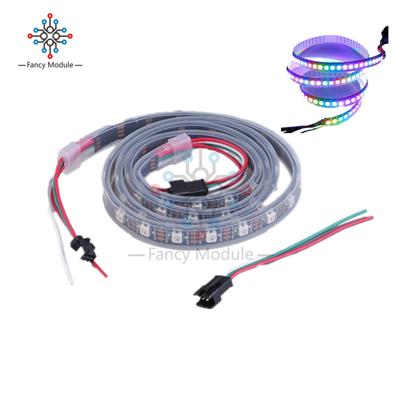 <font><b>WS2812B</b></font> <font><b>5050</b></font> RGB LED Strip 1M 60 Leds 60LED Individual Addressable 5V Black PCB image