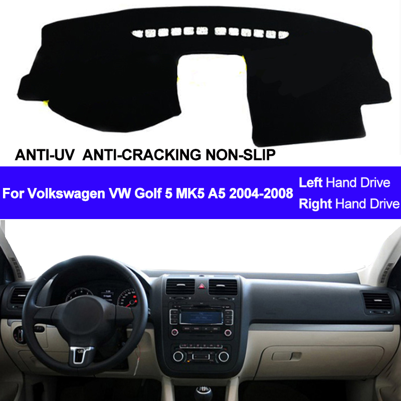 Car Dashboard Cover Dash Mat For Volkswagen VW Golf 5 MK5 A5 2004 2005 2006 2007 2008 Dashmat Pad Carpet Sun Shade Car Styling
