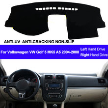 Mobil Dashboard Cover Dash Mat Untuk Volkswagen VW Golf 5 MK5 A5 2004 2005 2006 2007 2008 Dashmat Pad Karpet sun Shade Mobil Styling(China)