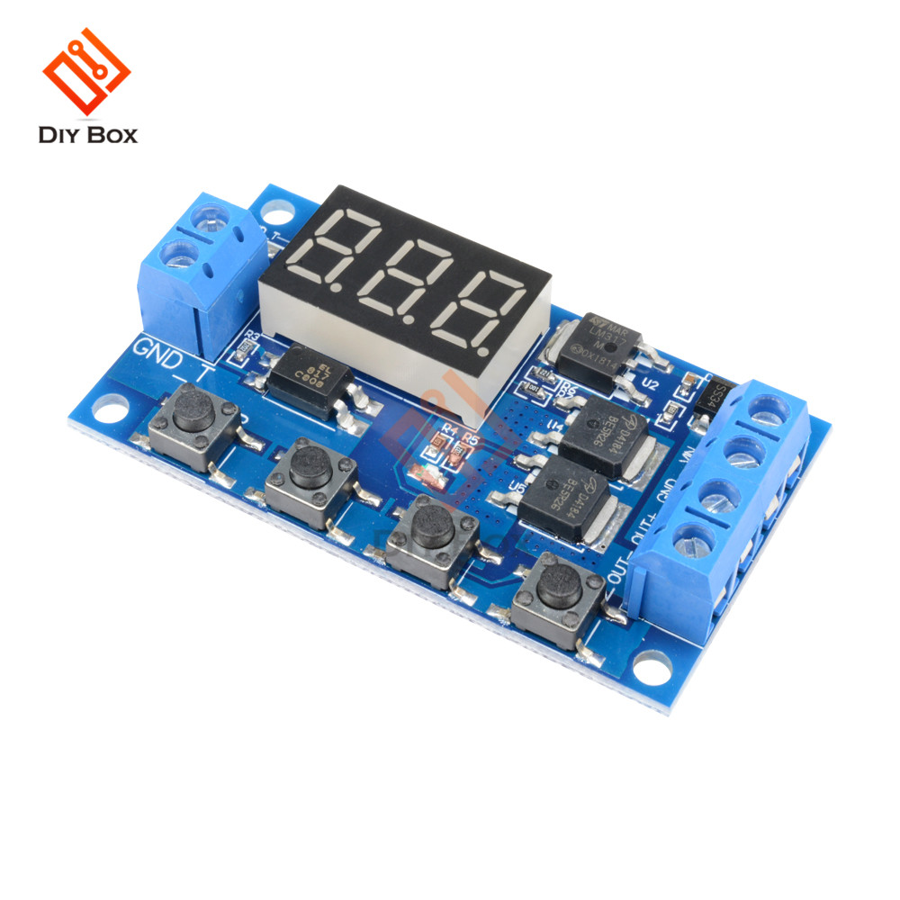 Dual Display Time Relay Module DC 12V Time Delay Relay Mini