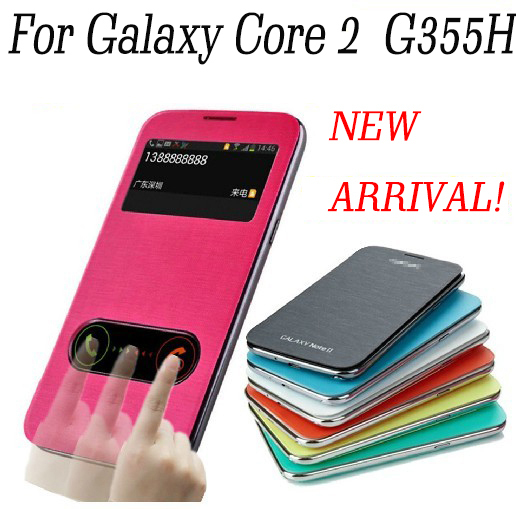 huge discount 2567b ccc60 US $1.99  For Samsung Galaxy Core 2 Duos FLIP COVER CASE WITH LOGO FOR  G355H CASE battery housing cover on Aliexpress.com   Alibaba Group