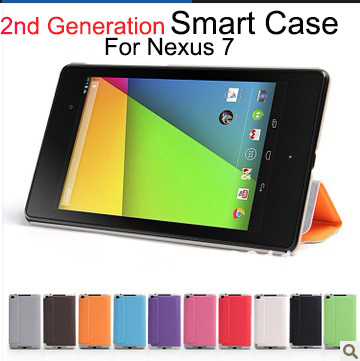 For nexus tablet 7(2013) cover,Smart Magnetic Folid High PU LEATHER CASE COVER FOR ASUS GOOGLE NEXUS 7 II-2nd Gen