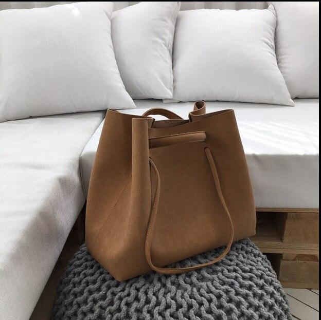 Augur Handbags 2017 retro portable scrub bales simple shoulder female totes bag