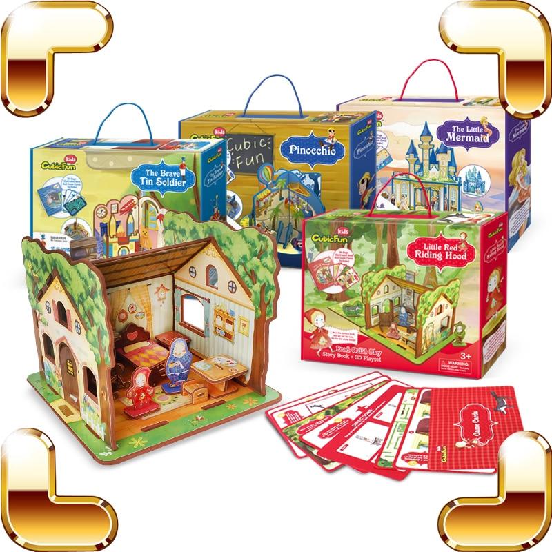 Enfants jour cadeau conte de fées temps 3D Puzzles modèle histoire série enfants éducatifs apprentissage jouets IQ assembler jeu famille à la main