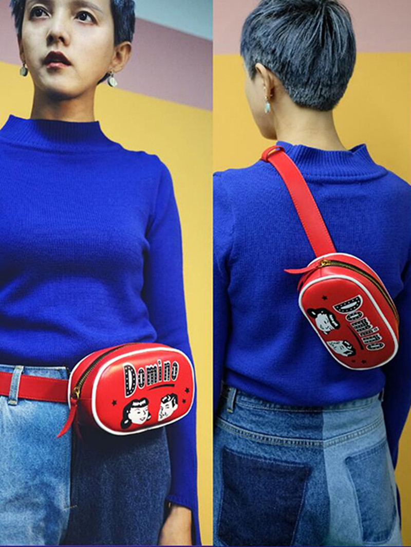 Купить с кэшбэком Travel  Fashion Mini PU Leather Fanny Pack Waist Bag Bananka Waterproof Antitheft Women Walking Shopping Belly Band Belt Bag