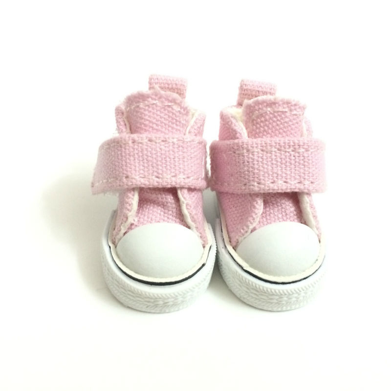 3.5cm Casual Canvas Shoes For 1/8 BJD Doll Fashion Mini Toy Shoes Sneaker Bjd Doll Shoes for Dolls Accessories 12 Pair/Lot-in Dolls Accessories from Toys & Hobbies    1
