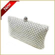 2015 frauen Perle Taschen Weibliche Abendtaschen Perlen Brautjungfern Taschen Bankett Mini Brieftasche Weiß Abend Tag Kupplung Kupplungen