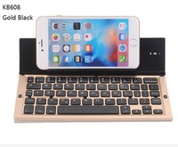 5 Colors KB608 Universal Wireless Bluetooth Keyboard IOS Android Phone Stand For IPhone 6 7 6s