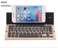 5 kolory KB608 Uniwersalna Bezprzewodowa Klawiatura Bluetooth IOS Android Telefon Stoisko dla iPhone 6 7 6 s 7 Plus 5S SE Tabletu iPad