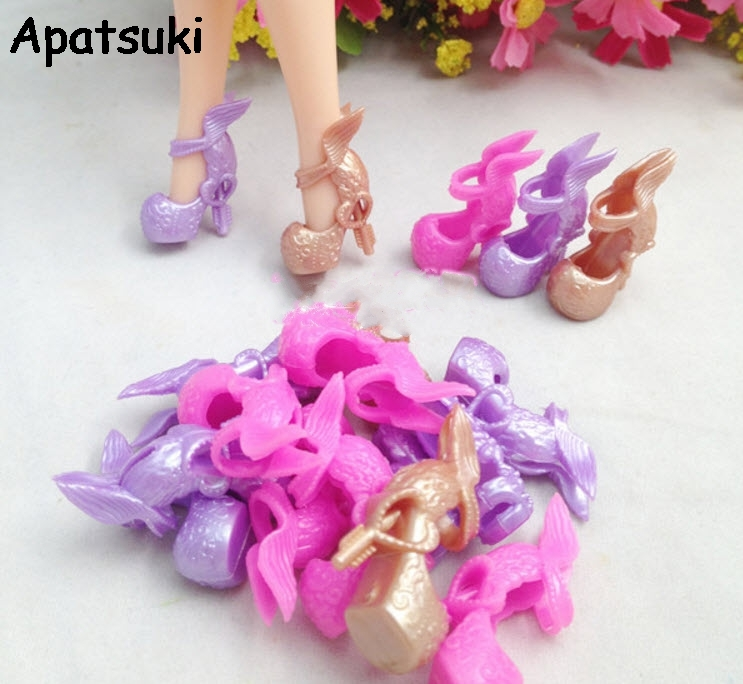 3pairs/lot Mix Colors Angle Wing Design Shoes High Heel Shoes For Monster High Dolls Fashion Sandals For Monster Dolls