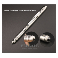 New Stainless Steel Tactical Pen Self Defense Weapon Glass Breaker Tungsten Steel Head For Outdoor Emergency